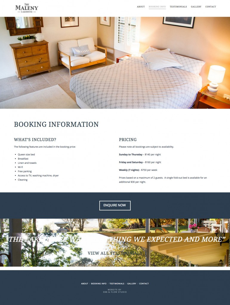 Maleny_booking